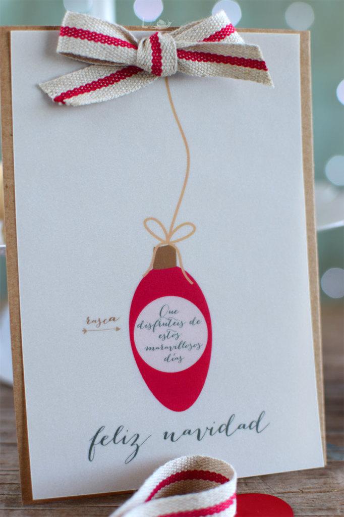 Tarjeta de Navidad con rasca